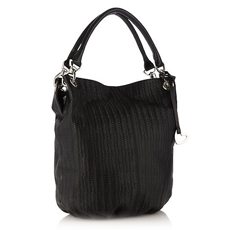 RJR.John Rocha - Designer black woven design hobo bag