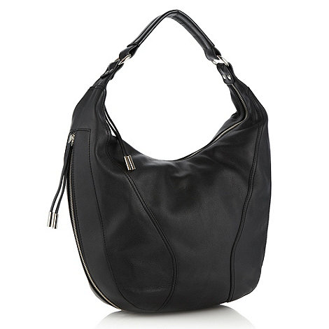 RJR.John Rocha - Designer black tasselled zipped hobo bag