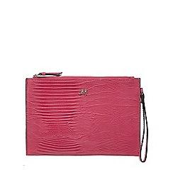 Star by Julien Macdonald - Pink lizard-effect clutch bag