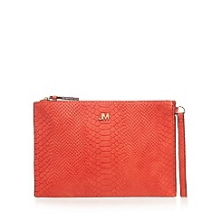 Star by Julien Macdonald - Orange croc-effect clutch bag
