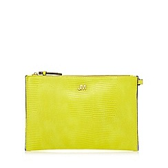 Star by Julien Macdonald - Yellow croc-effect clutch bag