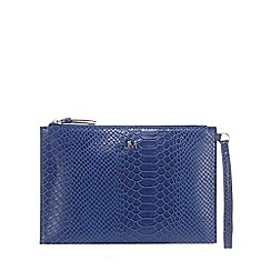 Star by Julien Macdonald - Blue croc-effect clutch bag
