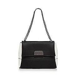 Star by Julien Macdonald - Black double flap over shoulder bag