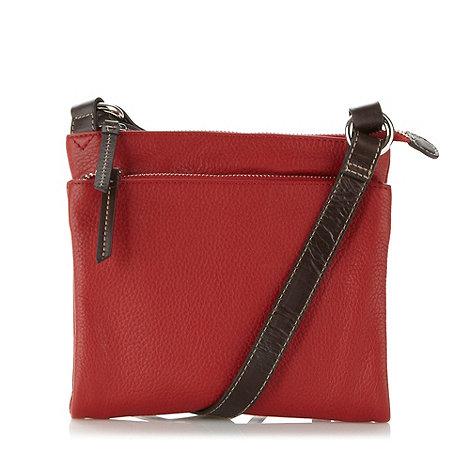 Principles by Ben de Lisi - Designer red double zip cross body bag