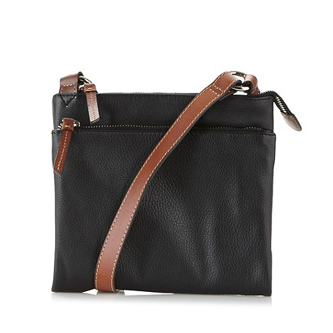 Principles by Ben de Lisi - Designer black double zip cross body bag