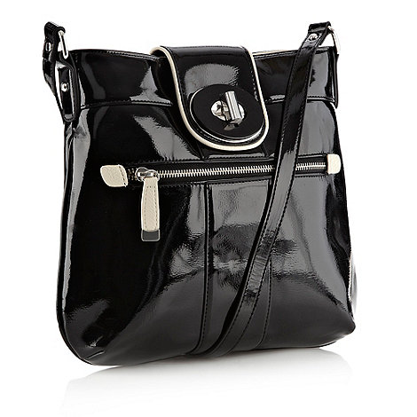Principles by Ben de Lisi - Designer black turn lock across body bag
