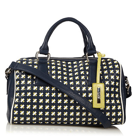 Principles by Ben de Lisi - Designer navy weave bowler bag