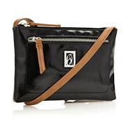 Designer black mini across body bag