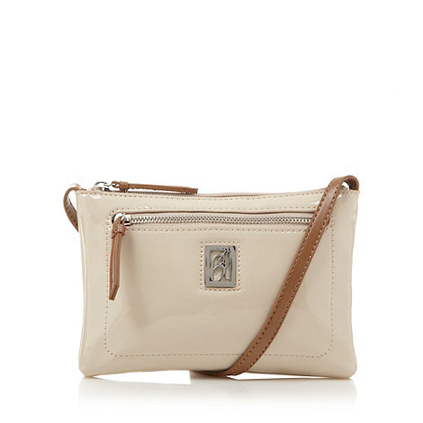 Principles by Ben de Lisi - Designer ivory patent mini cross body bag