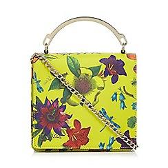 Star by Julien Macdonald - Yellow floral print small box bag