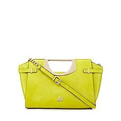 Star by Julien Macdonald - Lime snakeskin-effect grab bag