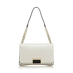 Star by Julien Macdonald - White textured shoulder bag