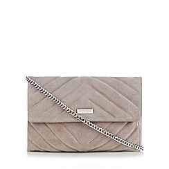 Principles by Ben de Lisi - Grey suede quilted cross body bag