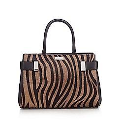 Principles by Ben de Lisi - Black zebra print grab bag