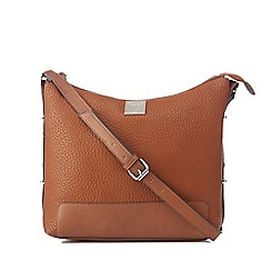 Principles by Ben de Lisi - Tan side stud cross body bag