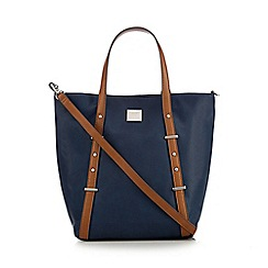 Principles by Ben de Lisi - Navy studded tote bag