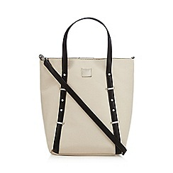 Principles by Ben de Lisi - Cream studded tote bag