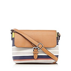 Principles by Ben de Lisi - Multi-coloured striped print cross body bag