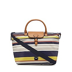 Principles by Ben de Lisi - Multi-coloured striped buckle detail tote bag