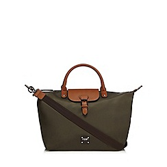 Principles by Ben de Lisi - Khaki buckle detail tote bag