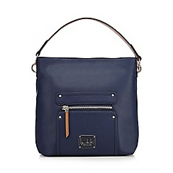Principles by Ben de Lisi - Navy front zip shoulder bag