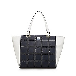 Principles by Ben de Lisi - Navy cut out shopper bag