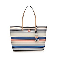 Principles by Ben de Lisi - Multi-coloured striped shopper bag
