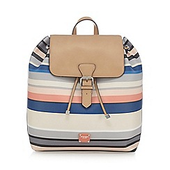 Principles by Ben de Lisi - Multi-coloured striped print backpack