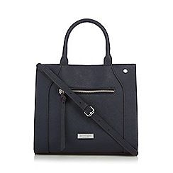Principles by Ben de Lisi - Navy zip detail large grab bag