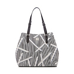 Principles by Ben de Lisi - White stripe print shopper bag