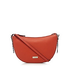 Principles by Ben de Lisi - Orange leather cross body bag