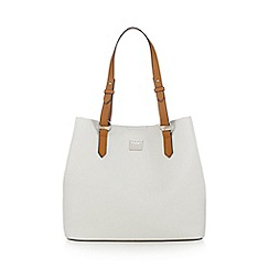 Principles by Ben de Lisi - White grained shopper bag