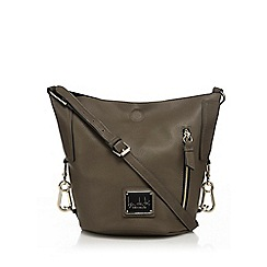 Principles by Ben de Lisi - Khaki zip detail duffle bag