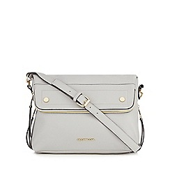 RJR.John Rocha - Grey fold over cross body bag