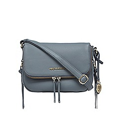 RJR.John Rocha - Light blue leather zip detail cross body bag