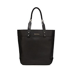 RJR.John Rocha - Black leather rope handle shopper bag