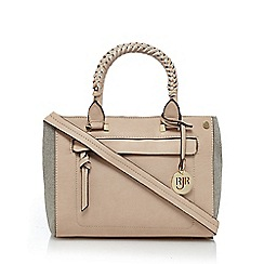 RJR.John Rocha - Light pink canvas side panel small grab bag