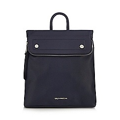 RJR.John Rocha - Navy fold down backpack