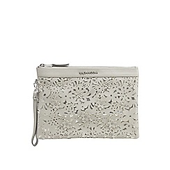 RJR.John Rocha - Grey floral cut-out clutch bag