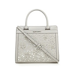 RJR.John Rocha - Grey floral cut-out tote bag