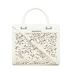 RJR.John Rocha - White floral cut-out tote bag