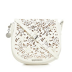 RJR.John Rocha - White floral applique cross body bag