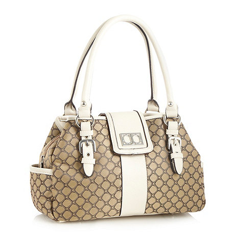 The Collection - Cream jacquard shoulder bag
