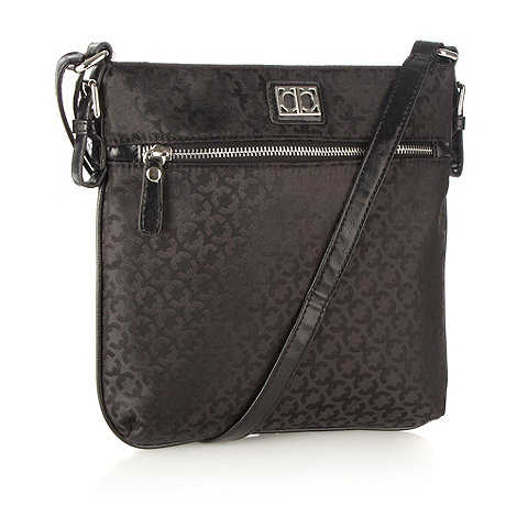 The Collection - Black small jacquard across body bag