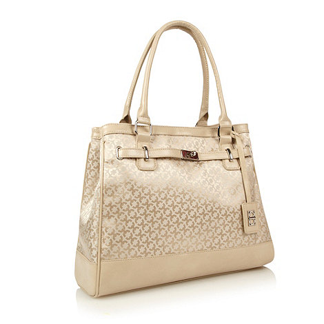 The Collection - Cream geometric jacquard shoulder bag