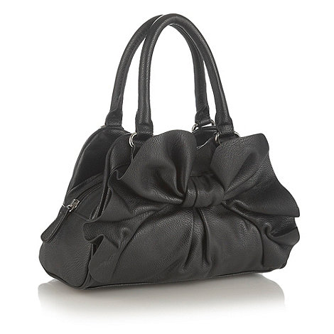 The Collection - Black bow small grab bag