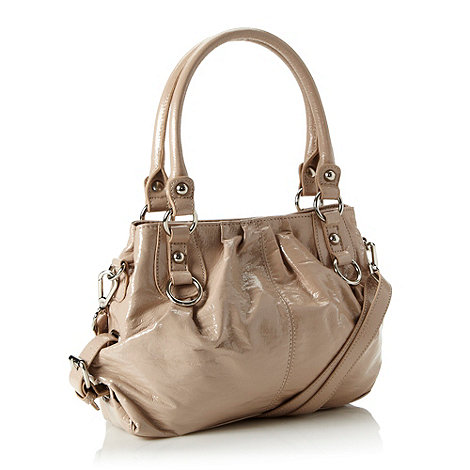 The Collection - Dark cream crinkled patent grab bag