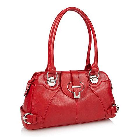 The Collection - Red belted strap detail shoulder bag