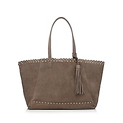 Nine by Savannah Miller - Grey suede studded shoulder bag