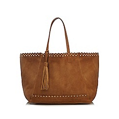 Nine by Savannah Miller - Tan suede studded shoulder bag